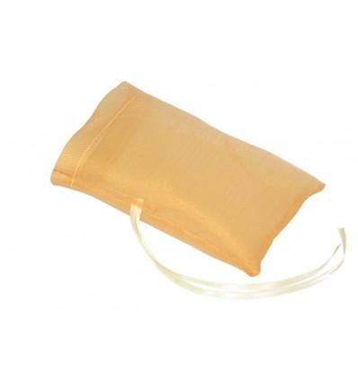 25 sacchettini organza arancio per confettata