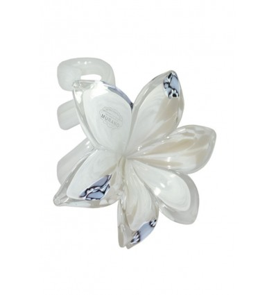 Fiore murano grigio avorio cm 12